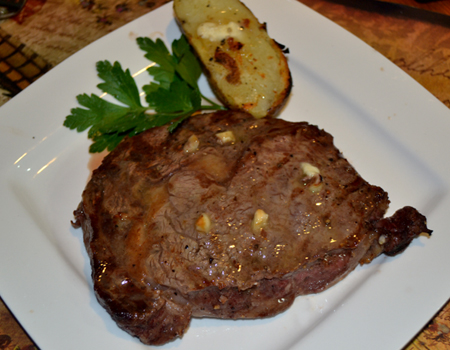 Grilling steak, a summertime ritual